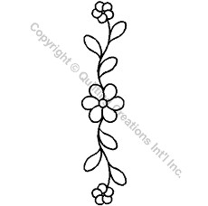 Floral Border Quilting Stencil 11in X 3in #143