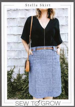 Stella Skirt Pattern By Sew to Grow