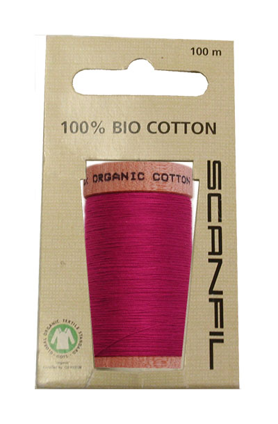 Scanfil Organic Thread 100 Metre Hang-sell - Fuscia