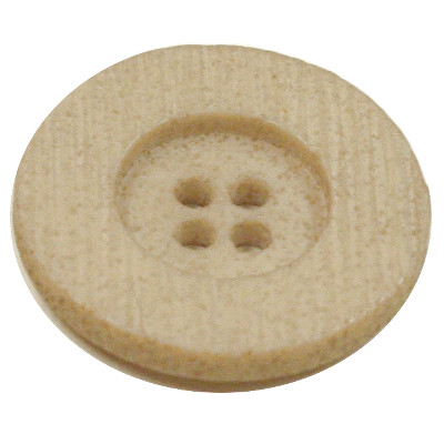 Acrylic Button 4 Hole Textured 25mm Beige