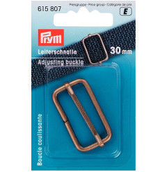 Prym Adjusting Buckle 30mm Antique Brass - 1 Piece