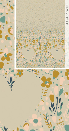 Garden Dreamer Love Garden Calm (Panel) - Art Gallery Fabric 44in/45in Per Metre