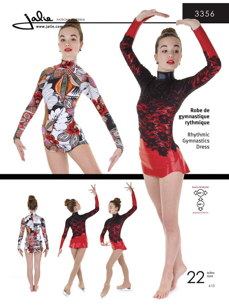 Rhythmic Gymnastics Dress Pattern by Jalie