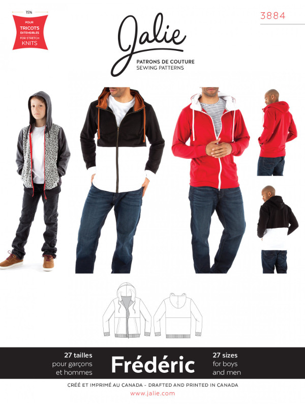 Frederic Hoodie Pattern - Jalie Patterns