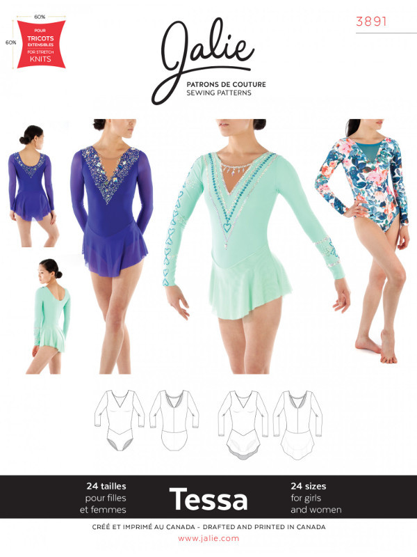 Tessa Long-Sleeve Dress And Leotard Pattern - Jalie Patterns