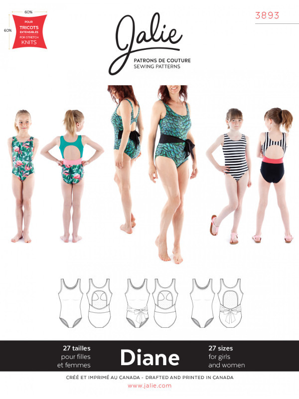Diane Tank Swimsuit Pattern - Jalie Patterns
