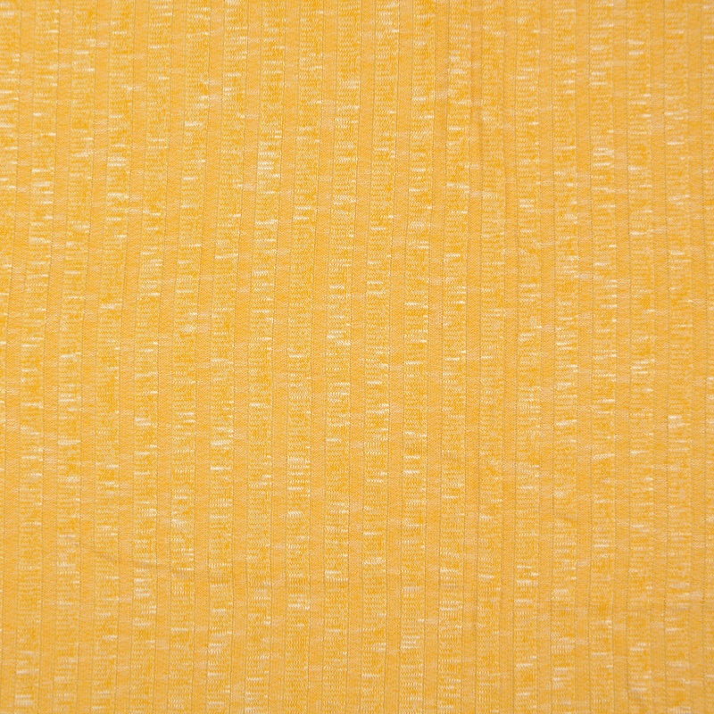Sete Yellow Melange Summer Rib Knit Fabric