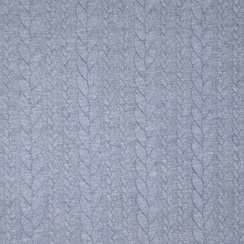 Barso Denim Heathered Cable Jacquard Knit Fabric