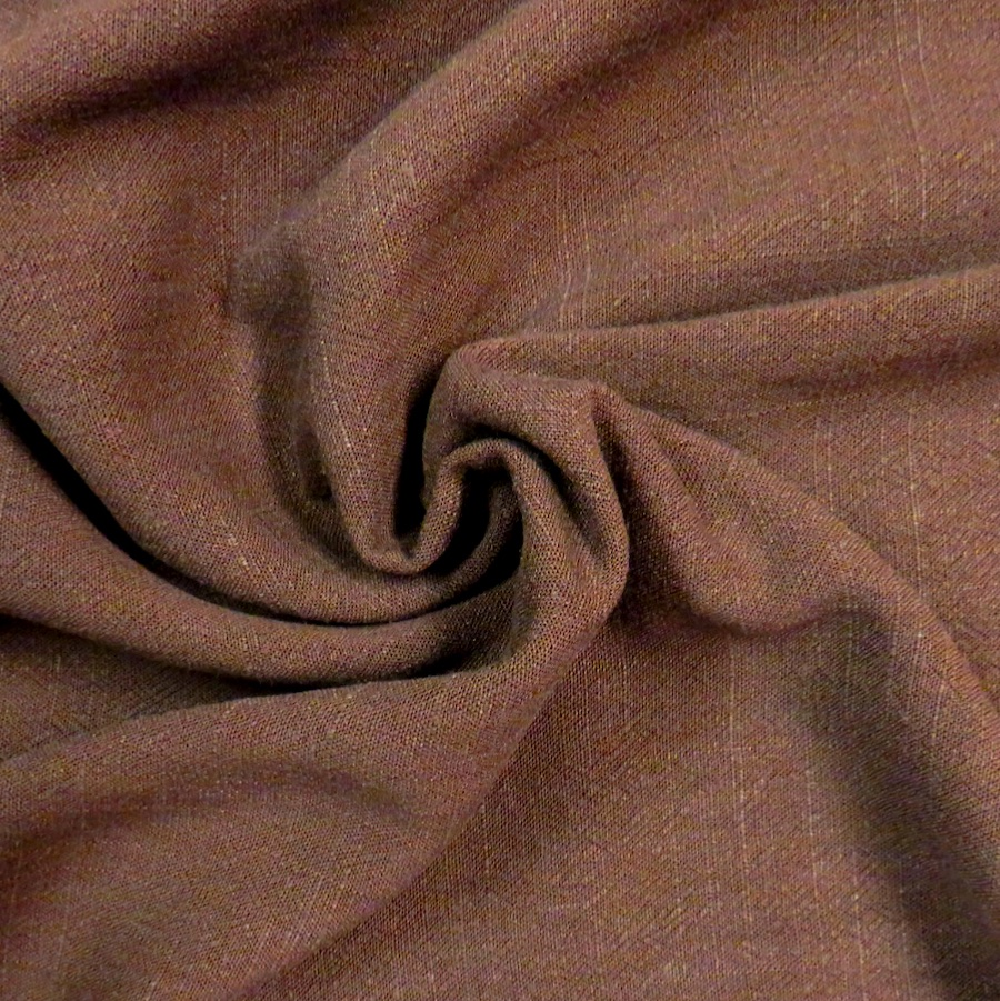 Bray Chocolate Viscose Linen Slub Fabric