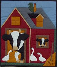 Miniature Quilt Kit - Cow 13in x 15in