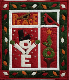 Miniature Quilt Kit - Love Joy Peace 13in X 15in