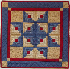 Miniature Quilt Kit - Log Cabin Star 22inx22in