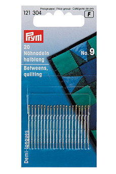 Prym Hand Sewing Needles Betweens 9 With Gold Eye 20pcs