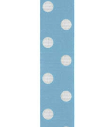 Spot Print Ribbon 7/8in 20mm L Blue/white 50yds / 46m