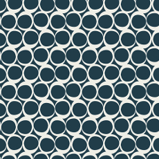 Round Elements Serine Tide - Art Gallery Fabric 44in/45in Per Metre