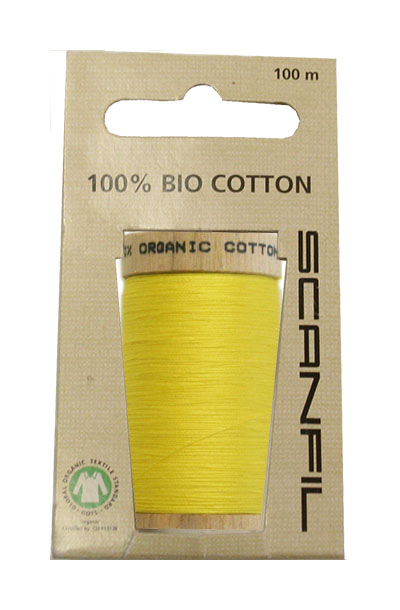 Scanfil Organic Thread 100 Metre Hang-sell - Yellow