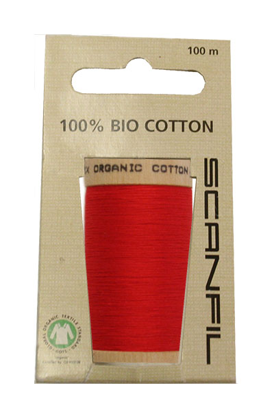 Scanfil Organic Thread 100 Metre Hang-sell - Red