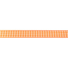 Orange Gingham Ribbon - 10mm X 47.5m