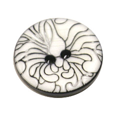 Acrylic Button 2 Hole Engraved 18mm White