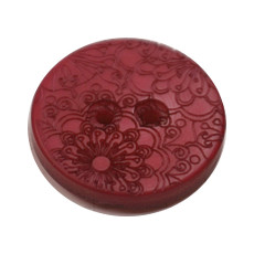 Acrylic Button 2 Hole Engraved 28mm Merlot