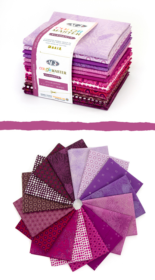 Color Master Elements Stellar Edition 16 Pieces Fat Quarter Bundle