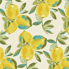 Sage Yuma Lemons Mist Canvas - Art Gallery Fabric 58in/59in Per Metre