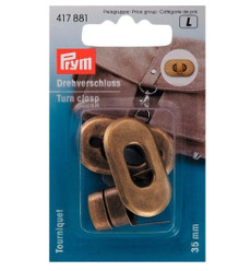 Prym Turn Clasp 35 X 20mm Antique Brass
