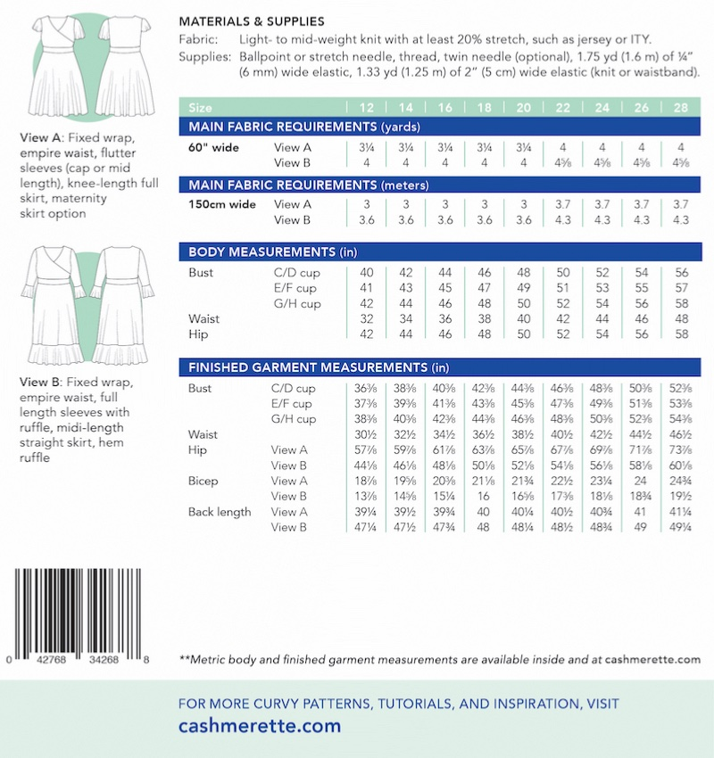 Alcott Dress Pattern by Cashmerette