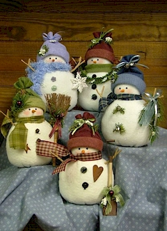 Odds & Ends Snowmen - Countryside Crafts Felt Pattern