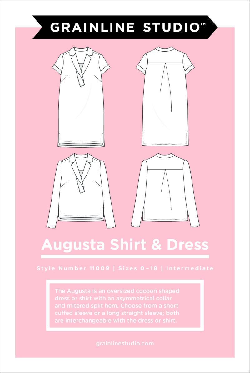 Augusta Shirt & Dress Pattern Size 0-18 by Grainline Studio
