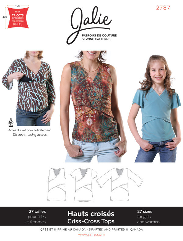 Criss-Cross Tops - Jalie Patterns