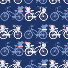 In Blue Fietsen Intense - Art Gallery Fabric 58in/60in Per Metre