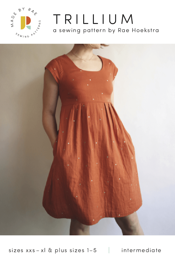 Trillium Dress from Made By Rae Patterns