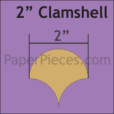 2 Inch Clamshells 68 Pieces - Paper Piecing