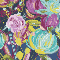 Sage Painted Desert Night Voile - Art Gallery Fabric 52in/53in Per Metre
