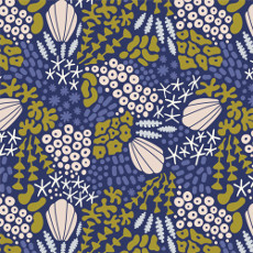 Underwater Reef Midnight Blue - Cloud 9 Quilters Weight Fabric 44in/45in Per Metre