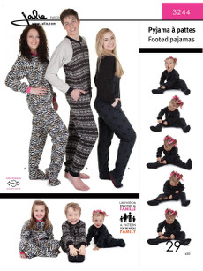 Footed Pajamas For Men, Women And Children Pattern - Jalie Patterns