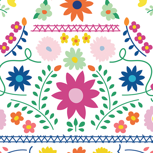 Fiesta Fun Mexican Dress Morning Canvas