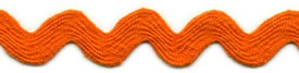 Orange - Ric Rac - Standard 16mm Wide 22m Reel