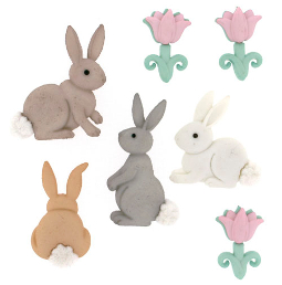 Easter Cotton Tails - Easter Button Pack