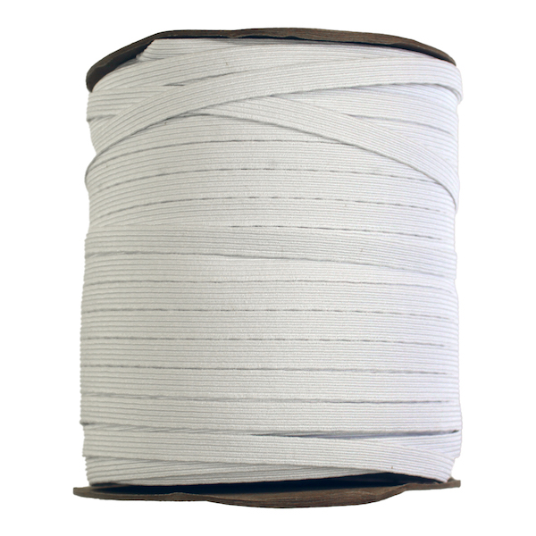 Knit Elastic White 12mm (1/2in) spool 132m (144yd)