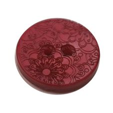 Acrylic Button 2 Hole Engraved 23mm Merlot