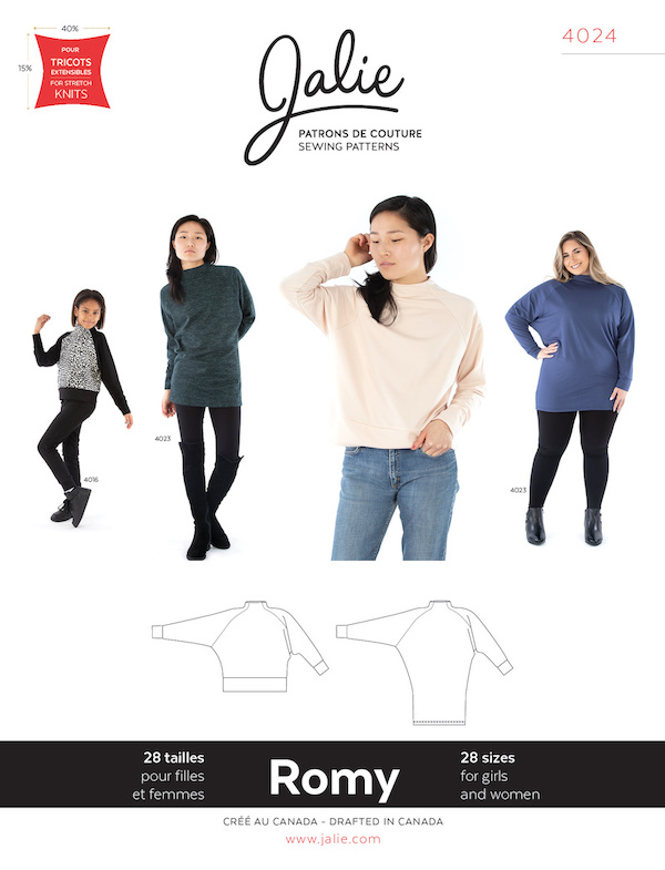 Romy Sweater and Tunic Pattern by Jalie