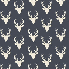 Hello Bear Tiny Buck Forest Twilight Knit - Art Gallery Fabric 58in/60in Per Metre