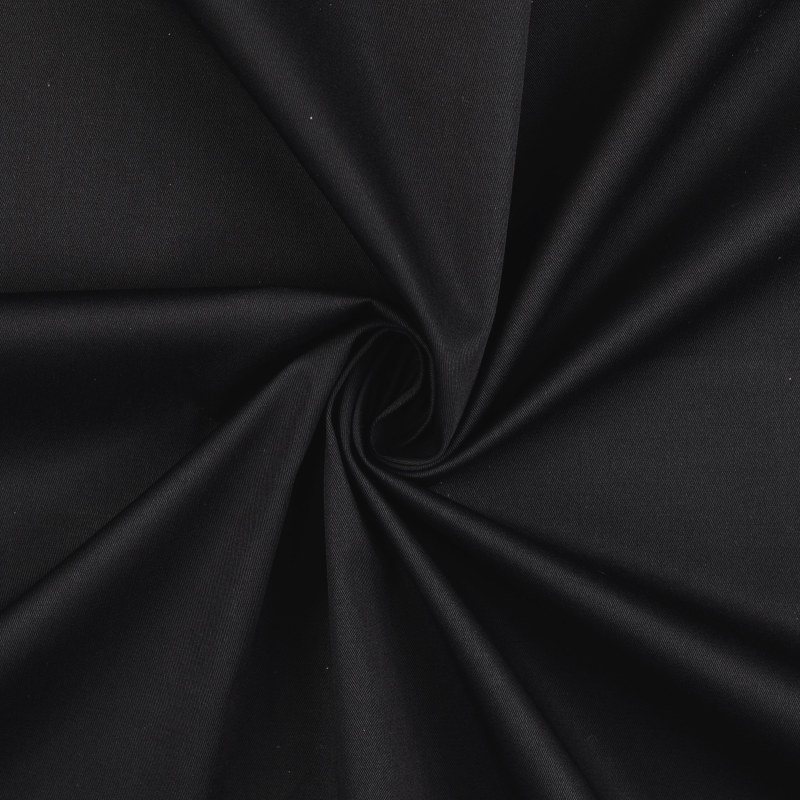 Attica Black Cotton Stretch Twill Fabric