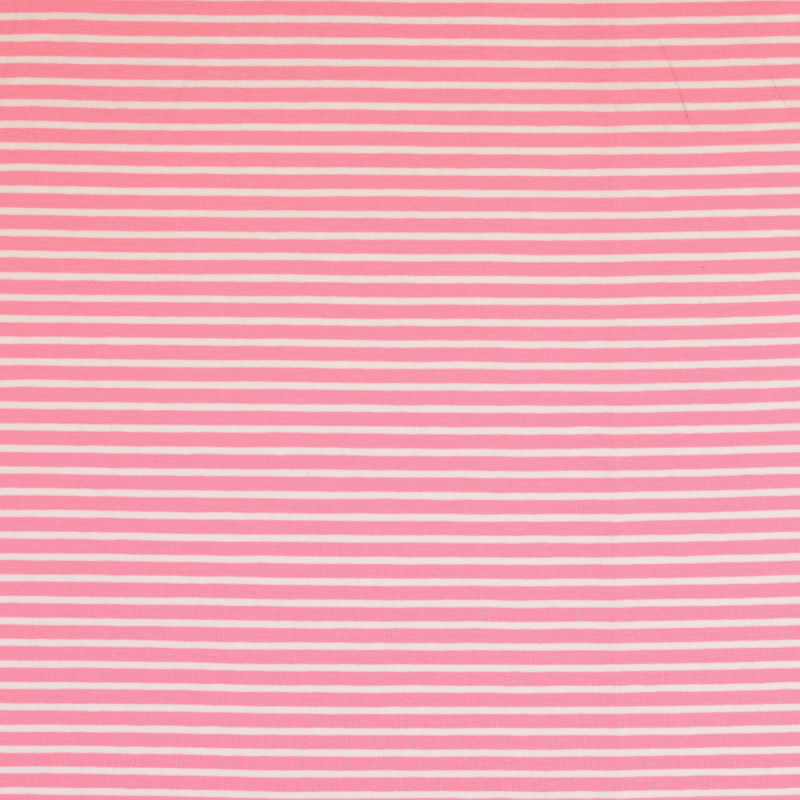 Nantes Pink and White Striped Knit Fabric