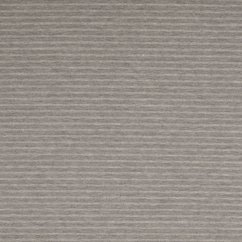 Nantes Light and Dark Grey Striped Knit Fabric