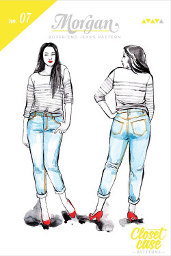 Morgan Boyfriend Jeans Pattern - Closet Case Files Pattern