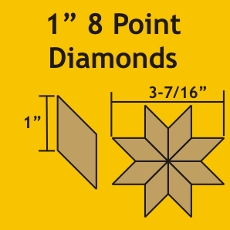 1in 8 Point Diamond Small Pack 100 Pieces - Paper Piecing