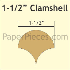 1.5 Inch Clamshells 135 Pieces - Paper Piecing